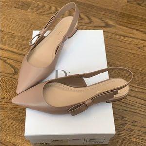 Dior J'adior nude blush leather slingback